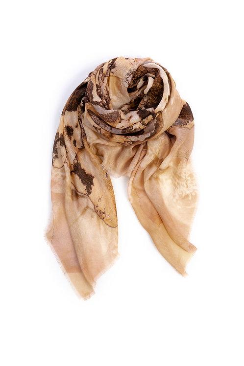 HEART OF ACE Foulard ART BLOOM Terra - Modal / Linen / Silk Blend