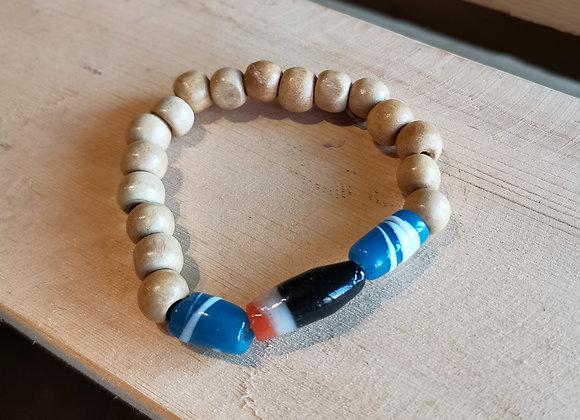 White Bracelet with Kalinga Beads