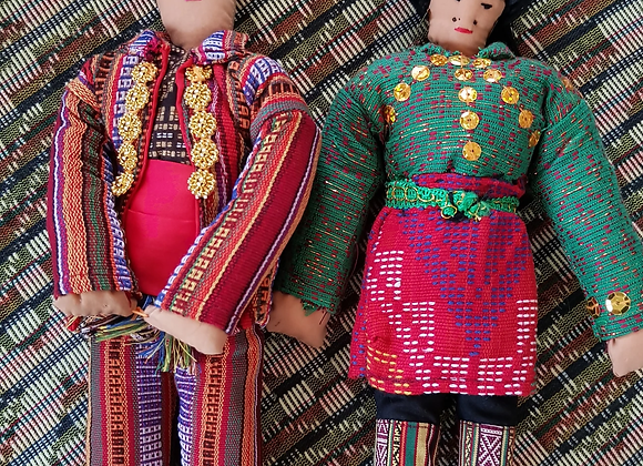 Yakan Pair of Handmade Dolls