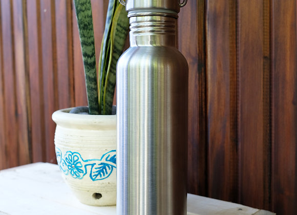 Drink Bottle with Bamboo Lid