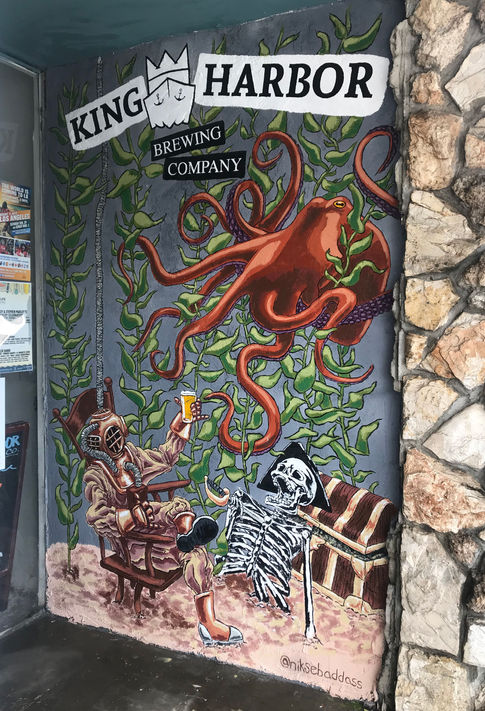 Mural for King Harbor Brewing Company