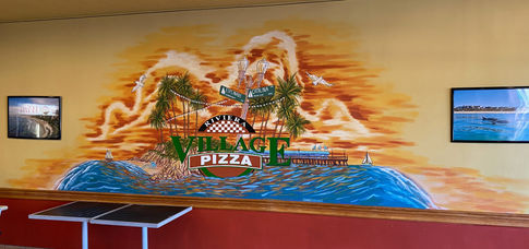 Mural for Village PIzza