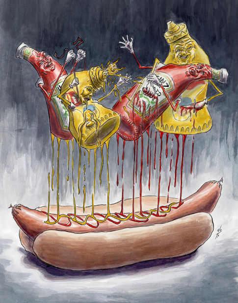 Condiment Showdown: Ketchup v Mustard