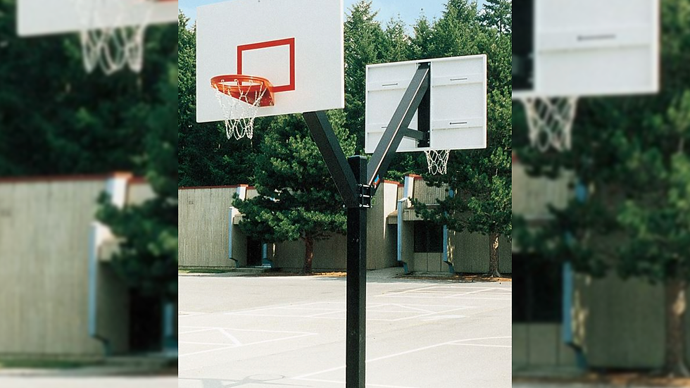 DOUBLE-SIDED ULTIMATE FIXED HEIGHT GOAL WITH STEEL BACKBOARD