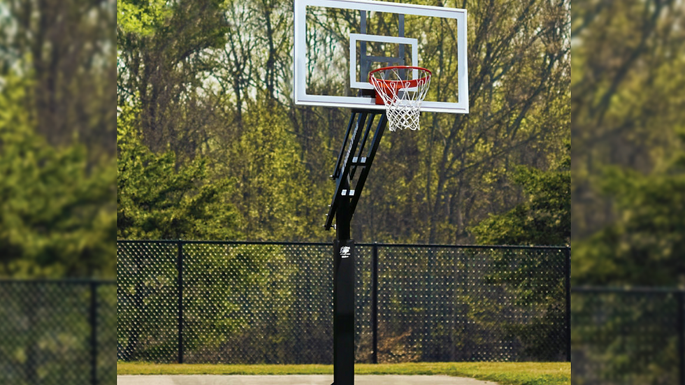 ULTIMATE HANGTIME ADJUSTABLE SYSTEM WITH GLASS BACKBOARD