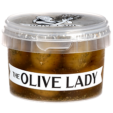 Pitted Green Olives Pottle; The Olive Lady NZ