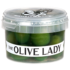 Sicilian Style Green Olives Pottle; The Olive Lady NZ
