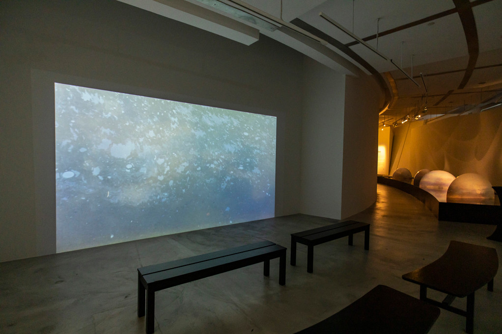 This  immersive 20 metrres installation work was commissioned by Esplanade Singapore and presented as a solo presentation at Jendela Gallery in 2019.