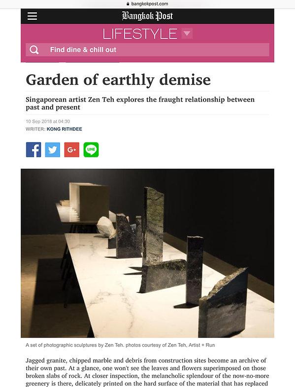 Bangkok Post Feature of Zen Teh