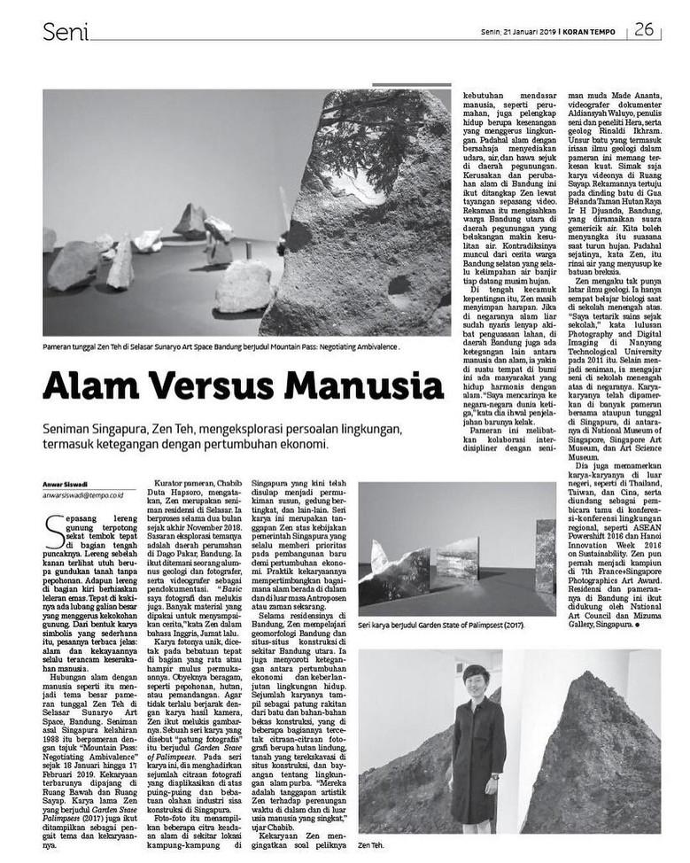 Tempo Magazine Feature