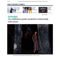 The Straits Times Feature on A Familiar Forest