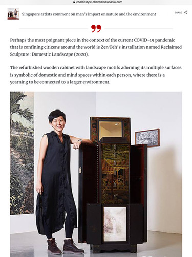 Group Exhibition featured on Channel NewsAsia Lifestyle