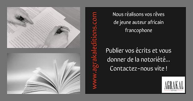Devenez auteur et envoyez votre manuscrit à Agrakal Editions