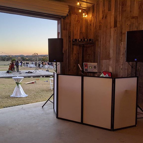 DJ Set-Up for Wedding at Cricket Hill Ranch
