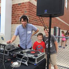 DJing at Carpenter Hill Elementary June