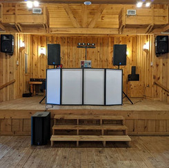 DJ Set-Up for Wedding at the Tejas Hall at Texas Old Town, Kyle, TX
