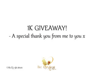 Giveaway - Thank you For 1K!