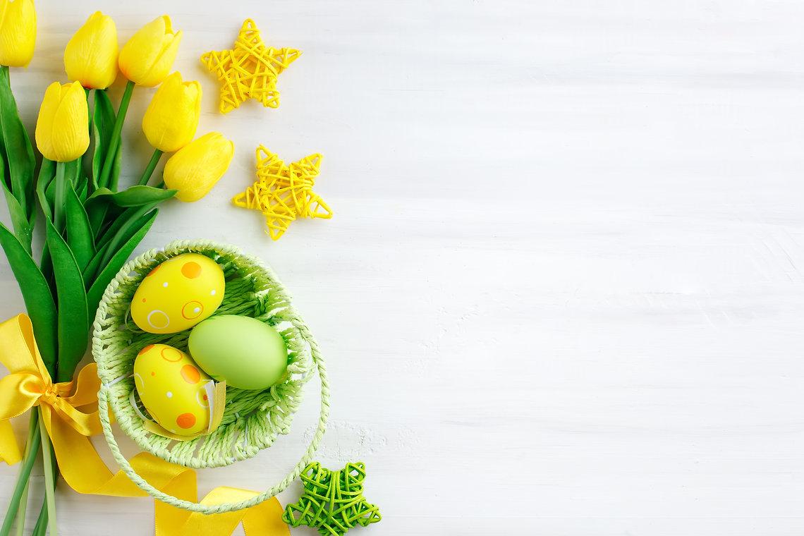 Happy Easter. Congratulatory easter back