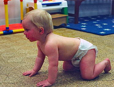 I learned to crawl!