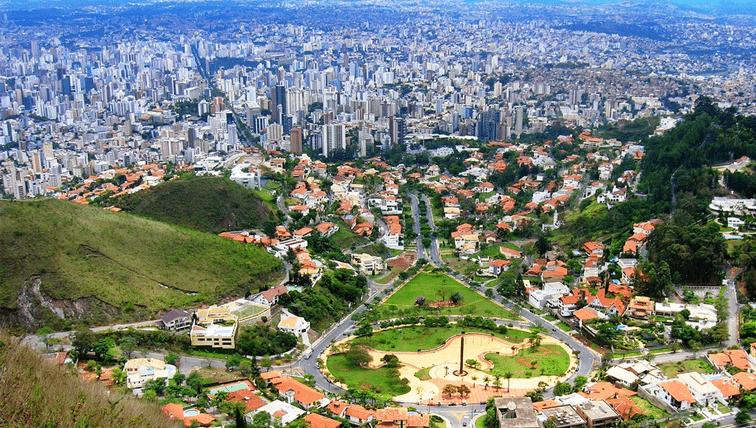Vista de cima da cidade de Belo Horizonte