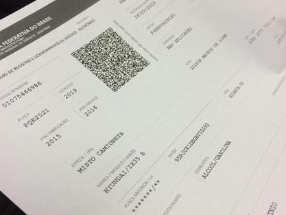 Documento do carro poderá ser impresso em casa