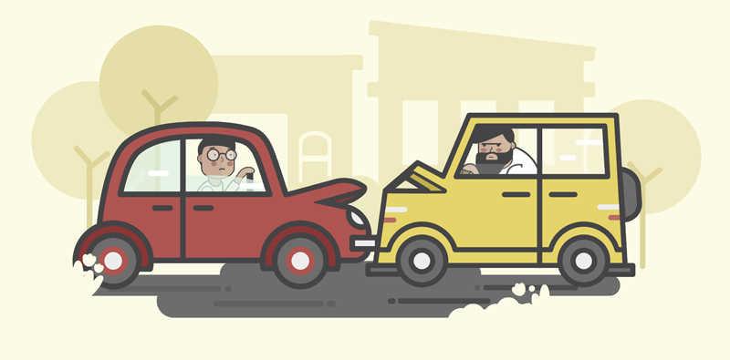 Acidente de carros (desenho)