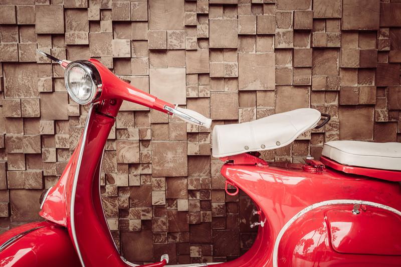 Moto vermelha vintage