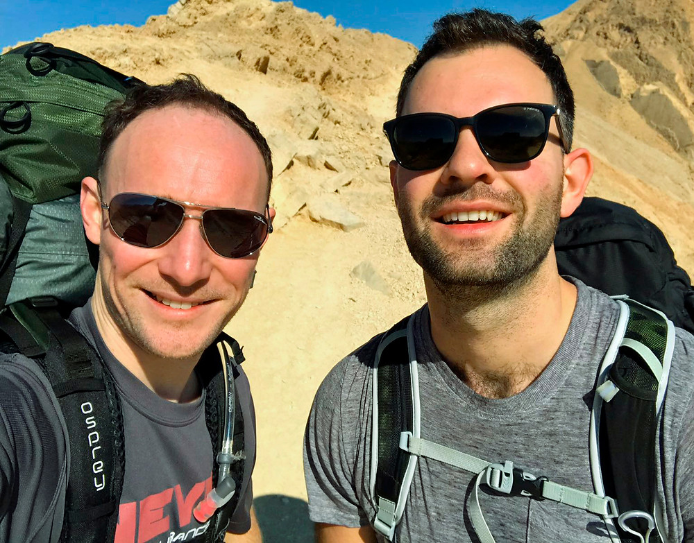 Dan and Pete on Day 1 of the desert journey