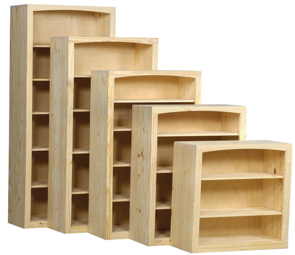 "36"" Wide Pine Bookcase Collection"
