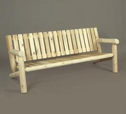 Low Back 6' Log Settee