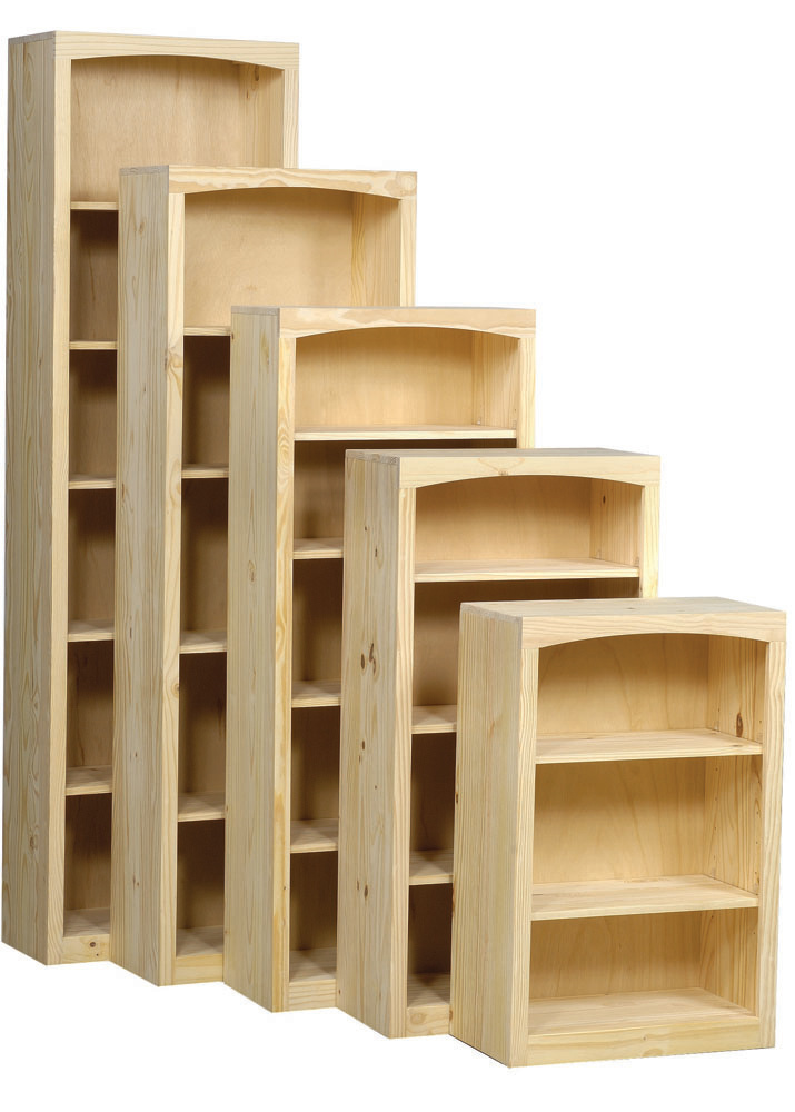 "24"" Wide Pine Bookcase Collection"
