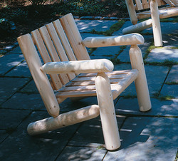 Low Back Log Arm Chair