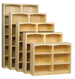 """48"""" Wide Pine Bookcase Collection"""