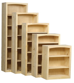 """30"""" Wide Pine Bookcase Collection"""