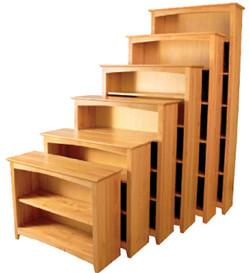 Alder Shaker Bookcases