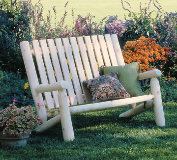 High Back Log Settee