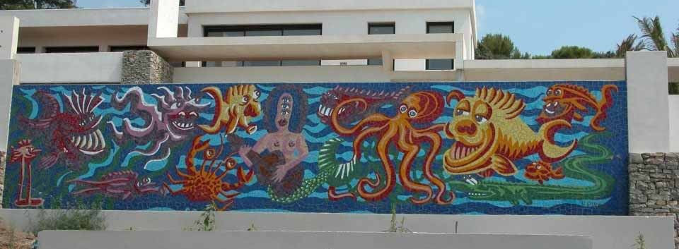 fresque murale david dalichoux mosaique