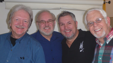 Gene Sisk, Randy Dorman, me and Steve Glassmeyer
