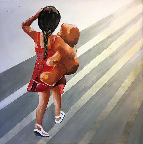 Never walk alone 5 - 40 x 40 cm