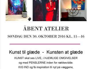 ÅBENT ATELIER - KUNST SKAL SES LIVE