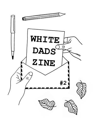 White Dads Zine Cover Design