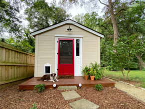 Vintage She Shed Office Reveal: The Exterior