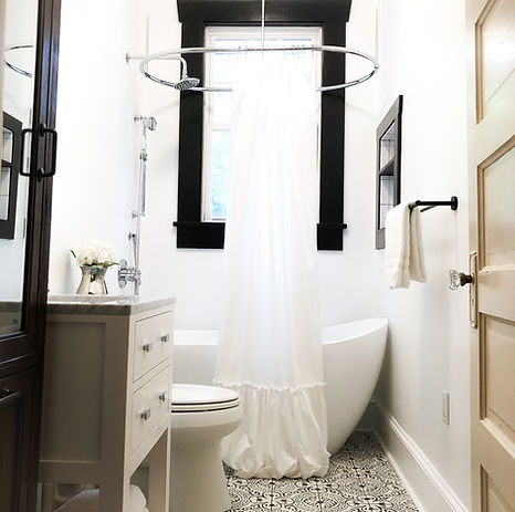 Vintage Glam Bathroom Renovation