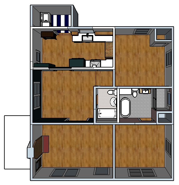 Redesigned Floor Plan - Banda Bungalow