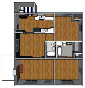 Redesigned Floor Plan - Banda Bungalow