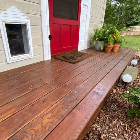 She Shed Office Deck