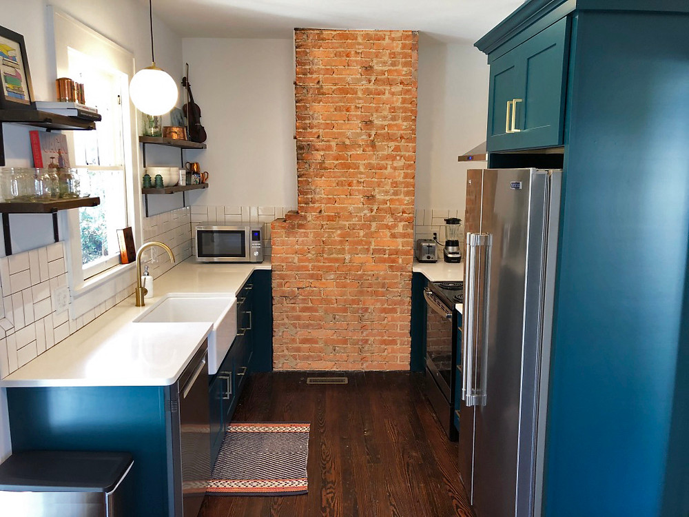 After Kitchen - Exposed Brick - Banda Bungalow