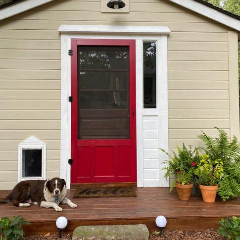 She Shed Dog Door