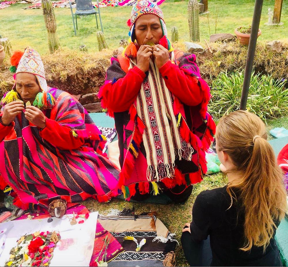 blessing Inca tribe Peru