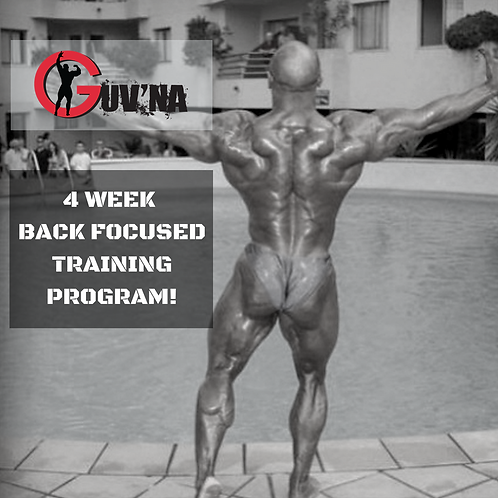 The Guv'na HUGE Back 4 Week Training Program